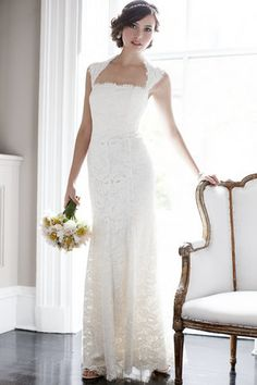 Lace Portrait Gown- Ann Taylor. Simple and sweet.