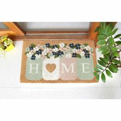 Cute Flower Home Doormat Flowers Lover Gift Home Sweet Home | Etsy House Gifts, New Home Gifts, Contemporary Door Mats, Affordable Area Rugs, Door Rugs, Entrance Rug, Coir Doormat, Office Rug, Floral Rug
