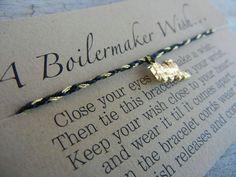 Purdue Boilermakers Inspired Wish Bracelet