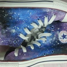 #galaxy chucks galaxy shoes galaxy high tops galaxy shoes for wom,High-top Painted Canvas Shoes