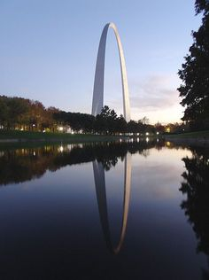 Photo: the Gateway Arch in St. Louis, Missouri. Credit: Matt Kozlowski; Wikimedia Commons. Thomas Jefferson, Jefferson City, Walter Gropius, Eero Saarinen, Gateway Arch, Family Research, Oregon Trail, Genealogy Research, Park Service