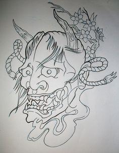 Mascara Hannya em processo de desenvolvimento, interessados entrar em contato Tiger Face Tattoo, Tiger Tattoo Design, Tattoo Design Drawings, Tattoo Designs, Japanese Demon Tattoo, Japanese Wave Tattoos, Hannya Mask Tattoo, Hanya Tattoo, Mascara Hannya