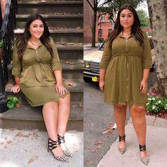 Loving Bianca's army green + leopard #OOTD