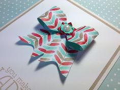 Make a paper bow on the Envelope Punch Board featuring Stampin' Up! prod...