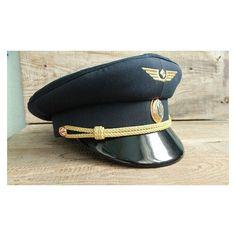 133bcbdbb6b original Ukraine pilot visor cap Vintage Ukraine aviator Cap with... ❤  liked on