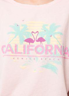 Beach print t-shirt