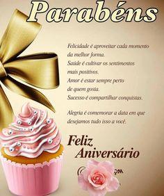 Felicidade é aproveitar cada momento da melhor forma #felicidades #feliz_aniversario #parabens Happy Bday Wishes, Happy Birthday Sms, Birthday Menu, Birthday Messages, Birthday Images, Happy B Day, Best Memories, Birthdays, Place Card Holders