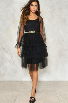 57217248a78 Do I Make Myself Sheer Tiered Dress