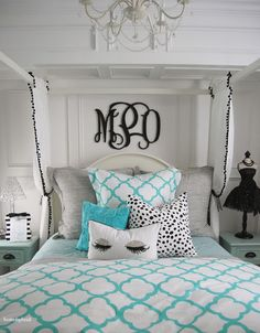 Home By Heidi: Tiffany Inspired Bedroom