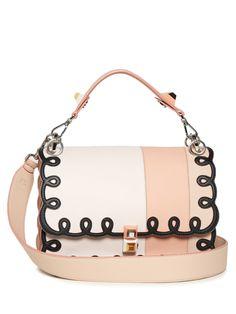 7445159aa8 FENDI Kan I leather shoulder bag Over The Shoulder Bags