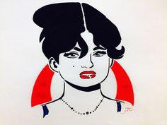 Pop art design  Woman  Red lips