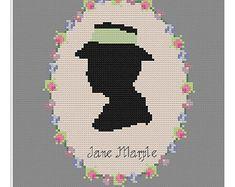 Miss Marple cross stitch pattern Agatha Christie