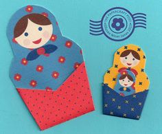 The Papercraft Post: Russian Doll Pockets: Print-and-Cut!