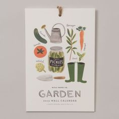 Terrain Garden Sketches Calendar #shopterrain