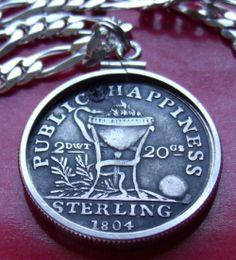 "classic 33mm diametr 2 Irish Horse Coin Pendants on 28/"" 925 SILVER Snake Chains"