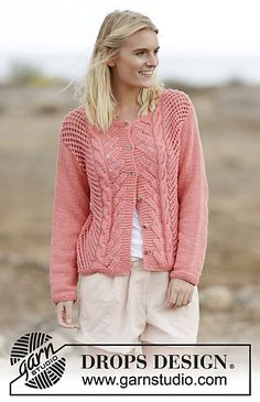 Ravelry: 159-15 Sweet Peach Cardigan pattern by DROPS design