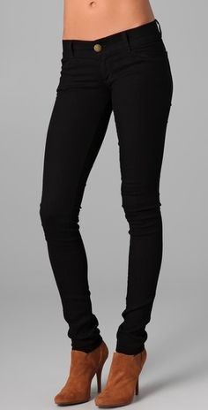 Current/Elliott The Legging Jeans - StyleSays...GIRRRL...I love me a dark skinny jean and tan booties...its like a homage to my earlier hip hop wannabe roots ;)
