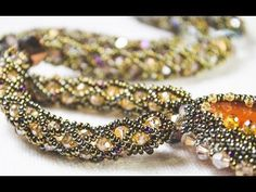 Netted Rope for bracelets or necklaces with bicone beads and seed beads. #Seed #Bead #Tutorials