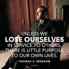 """LIKE and SHARE if you agree with #PresMonson http://pinterest.com/pin/24066179228814793 that """"To find real happiness, we must seek for it in a focus outside ourselves. Service to others is akin to duty, the fulfillment of which brings true joy."""" Enjoy his entire #LDSconf http://facebook.com/223271487682878 message http://lds.org/general-conference/2009/10/what-have-i-done-for-someone-today #PassItOn"""