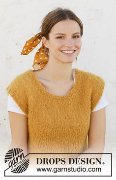 Free knitting patterns and crochet patterns by DROPS Design Ladies Cardigan Knitting Patterns, Knit Vest Pattern, Knitting Patterns Free, Knit Patterns, Free Knitting, Drops Design, Crochet Woman, Knit Crochet, Laine Drops