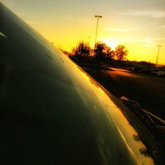 """Starting a new spinoff from People of Walmart with """"Sunsets of Walmart"""" #refection #van #windshield #sunset #walmart #whyamatwalmartonlaborday"""