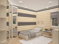 Современный блок-хаус. Спальня