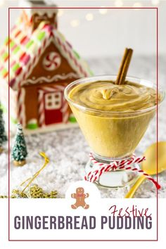 This gingerbread pudding is a festive and easy holiday dessert that the whole family will love. With its rich, creamy custard and gingerbread spice, this pudding will be a new favorite holiday recipe. #gingerbreadpudding #gingerbreaddessert #christmasdessert #christmaspudding