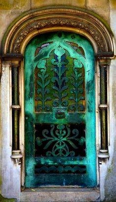 ₪portas - Tomb door at Brompton Cemetery, London. Cool Doors, Unique Doors, The Doors, Windows And Doors, Grand Entrance, Entrance Doors, Doorway, Door Knockers, Door Knobs