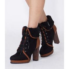 Buy 'yeswalker – Fleece-Trim Lace-Up Boots' with Free International Shipping at YesStyle.com. Browse and shop for thousands of Asian fashion items from Hong Kong and more!