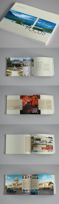 Focus - Photo & Portfolio Book Template - Brochures on Creattica: Your source for design inspiration Book Design Layout, Print Layout, Book Cover Design, Design Nike, Web Design, Magazine Ideas, Magazine Design, Brochure Layout, Brochure Design