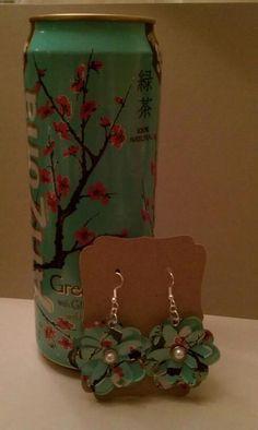 Arizona Tea Upcycled Flower Earrings
