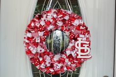 My St. Louis Cardinals wreath I made.  I can make one for you too!! :)