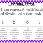 """These are learning goals and scales based off of Common Core third grade math standards. There is a goal for every """"big idea"""" in the math standards..."""