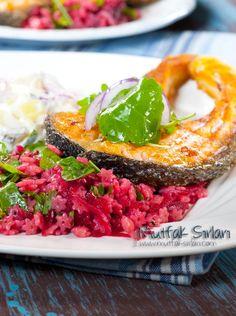 Yıldız Şehriye Salatası (Pancarlı ve Rokalı) – Mutfak Sırları