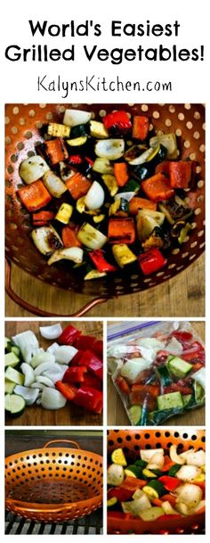 perfectly seasoned and cooked grilled vegetables, fabulous for an easy ...