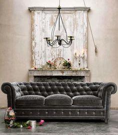 beautiful gray velvet sofa