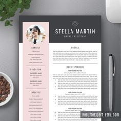 Modern Resume Template / CV Template Cover Letter by ResumeExpert
