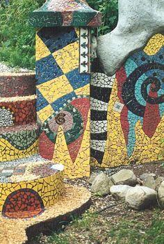 fresque murale mosaique