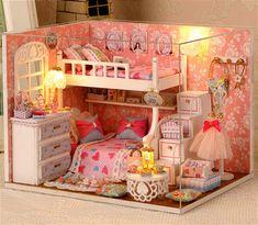 wooden dollhouse miniatures 1:12 furniture kit set por barvazon10