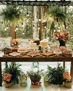 Rustic Dessert Tables Just In Time For Fall! Garden Wedding, Wedding Table, Summer Wedding, Rustic Wedding, Wedding Reception, Wedding Blog, Reception Food, Cake Wedding, Bridal Shower Decorations