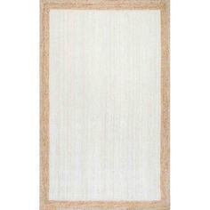 nuLOOM Machine-Made Eleonora Area Rug or Runner, White