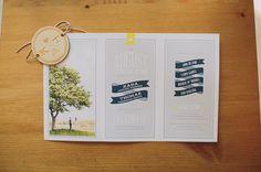 Our wedding invitations!  accordion wedding invite design \ Canadian Backyard Wedding