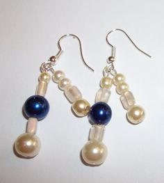 2 sets Bridesmaid Earrings Classic Cream by ElizabettaJewellery