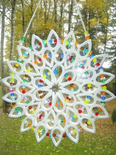 """HANDCRAFTED """"LARGE SUNCATCHERS"""" IN PLASTIC CANVAS"""
