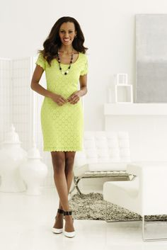 This Ronni Nicole lace dress is perfect for Spring! #GoSpring #Lace #SteinMart