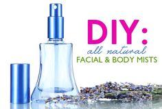 diy facial and body mists