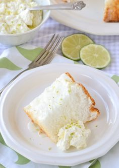 Key Lime Angel Food Cake.