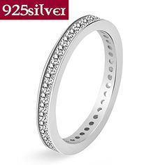 18k gold jewelry punk CZ crystal S925 ring 100% real 925 sterling silver ring for women 14 New J012 *** You can find more details by visiting the image link.