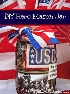 DIY Hero Mod Podge Mason Jar by coconutheadsurvivalguide.com