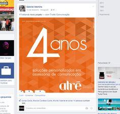 Post para rede social - Campanha 4 anos Atre Comunicação